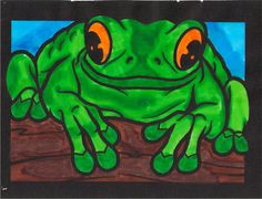 Ezekiel G. (12-18 division) from  Frogs Stained Glass Coloring Book: http://store.doverpublications.com/048641258x.html