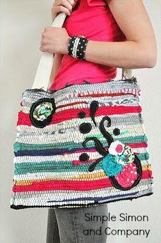 $5 Friday-Rug Market Bag Tutorial - Simple Simon and Company