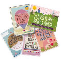 Set Of 30 Milestone Baby Cards