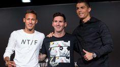 2015 Neymar, Messi und Ronaldo (v.l.)
