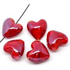Illusions, Glass Beads, Artisan, Shapes, Red, Crafts, Manualidades, Craftsman, Handmade Crafts