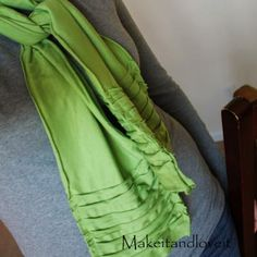Knit Scarf {Sewing Tutorial}