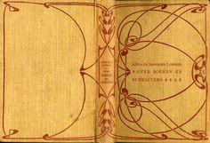 Art Nouveau Style Book cover designs by Dutch artist Anna Sipkema (1877-1933). Bindings from Wolfsonian. artnouveaustyle
