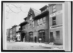 2.  Photocopy of old 1893 photo of firehouse. Original photo at Philadelphia City Hall, Philadelphia City Archives, Philadelphia, Pa. - Weccacoe Engine Company No. 9, 117-121 Queen Street, Philadelphia, Philadelphia County, PA