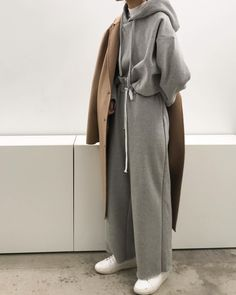 Casual coziness. The sale is still on, don't miss out! #BeOakandFort Hoodie 1811 Pant H358 Handmade coat 1820 Sneaker 1339