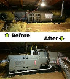 Before and After HVAC Furnace