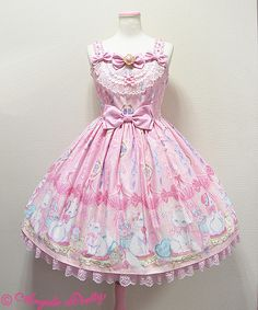 Angelic Pretty: 2015 Dolly Cat JSK in pink (asking price $304) {new / never worn}