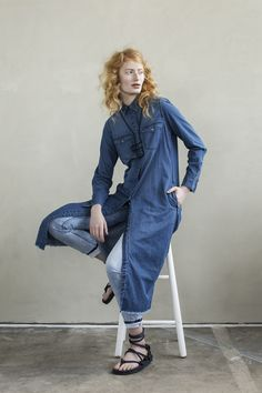 The Big Wave | Fall collection | Model | Photography | Denim blouse