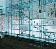 inside the glass house.. this is so cool