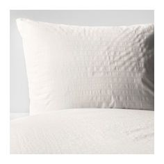 IKEA - OFELIA VASS, Quilt cover and 2 pillowcases, 150x200/50x80 cm, , Extra soft and durable quality since the bedlinen is densely woven from fine yarn.Concealed press studs keep the quilt in place.
