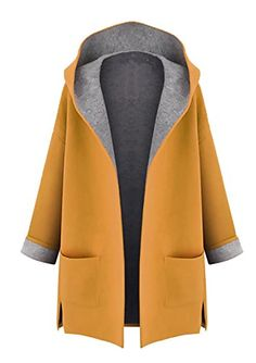 Cheap hooded cardigan, Buy Quality women winter directly from China cardigan hood Suppliers: New 2017 Large Size womens winter jackets and woolen coats hooded cardigan Windbreaker manteau femme show thin abrigos mujer Oversize Pullover, Coats For Women, Clothes For Women, Ladies Coats, Jackets For Women, Plain Hoodies, Stylish Plus, Stylish Coat, Plus Size Coats