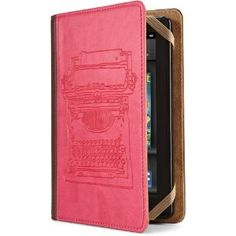 Verso Typewriter Case Cover by Molly Rausch (Fits Kindle Fire), Pink/Tan. -- 25% DISCOUNT for a limited time! --- http://www.pinterest.com.itshot.me/r3