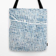 Philadelphia City Map Tote Bag by Anne E. McGraw - $22.00