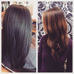 Andrea lifted Cici's natural dark hair overall and hand painted on highlights creating a soft color melt. Natural Dark Hair, Color Melting, Soft Colors, Salons, Highlights, Hand Painted, Long Hair Styles, Instagram Posts, Beauty