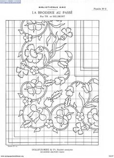 free hand embroidery pattern On grid!free hand embroidery pattern Archives - Page 2 of 2 - PintangleMight make an interesting appliqueru & Фото - Richelieu scheme I - GWDContemporary hand embroidery and crazy quilting tutorials, patterns, ideas a Bordado Jacobean, Jacobean Embroidery, Beaded Embroidery, Embroidery Stitches, Embroidery Patterns, Hand Embroidery, Brother Embroidery, Motifs Art Nouveau, Quilt Border