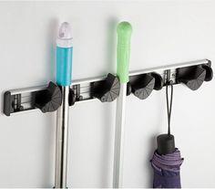 moderne 4 positie badkamer opslag mop en bezem houder rek schoonmaken van het huis gereedschap hanger w/haak in moderne 4 positie badkamer opslag mop en bezem houder rek schoonmaken van het huis gereedschap hanger w/haakproductbesch van Opslag Houders & Rekken op AliExpress.com | Alibaba Groep