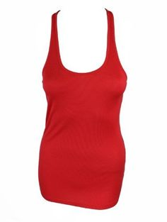 Saint Grace Womens Red Ribbed Racerback Scoopneck Tank Top S Saint Grace. $30.00. Save 44% Off!