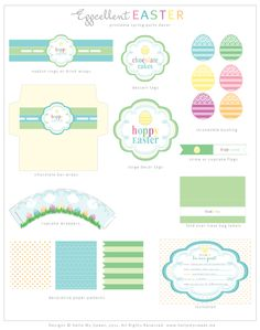 Free Easter Party Printables Decoration  www.hellomysweet.me