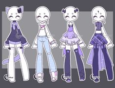 SET 9: Gacha outfits by Lunadopt on DeviantArt