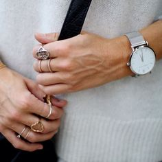 The clean lines of the CM | Silver, worn by Lucy Williams.