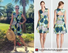 Buy Reese Witherspoon's Draper James Keyhole Back Floral Print Dress, here!