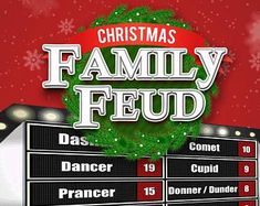 christmas family feud printable gamepamspartyprintables, Modern powerpoint