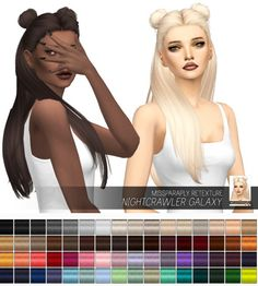Miss Paraply: NIghtcrawler Galaxy: Solids • Sims 4 Downloads