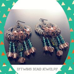 Brass Chandelier Earrings  Bollywood style with by BYTWINS on Etsy