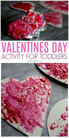 This simple Valentines Day activity is perfect for toddlers and preschoolers. Make some easy heart crafts using a fun painting technique valentines day day day cards day crafts day food day ideas geschenk spruch Toddler Crafts Valentines Day, Kinder Valentines, Valentine's Day Crafts For Kids, Valentines Day Activities, Valentines For Kids, Valentine Theme, Valentine Treats, Saint Valentine, Valentine Cards