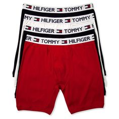 Tommy Hilfiger Men's Underwear, Cotton Boxer Brief 4-Pack ($33) ❤ liked on Polyvore featuring men's fashion, men's clothing, men's underwear, mens boxer briefs, mens cotton boxer briefs and mens underwear boxer briefs