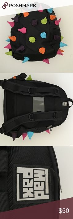 Mad Pax Bookbag Like new! Used only a couple of times. Bright fun colors and wild spikes! Bags Backpacks