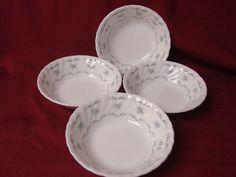 Minton Bone China Dinnerware Ariel Pattern # B1462  England  set 4 Fruit/sauce #Minton