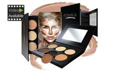 Aesthetica Cosmetics Cream Contour and Highlighting Makeup Kit - Contouring Foundation / Concealer Palette - Vegan, Cruelty Free & Hypoallergenic - Step-by-Step Instructions Included Cream Contour, Contour Brush, Makeup Palette, Face Contouring, Contouring And Highlighting, Black Makeup Brands, Acrylic Nails Kylie Jenner, Aesthetica Cosmetics, Eyes