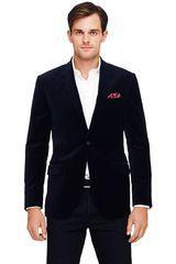 Club Monaco Grant Velvet Blazer in Blue for Men (Navy) - Lyst