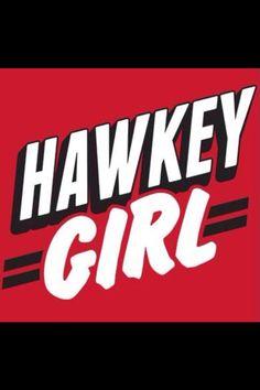 Blackhawks hockey chick!