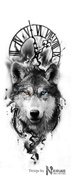 Wolf - tattoo - - My list of the most creative tattoo models Wolf Tattoo Design, Tribal Wolf Tattoo, Wolf Tattoo Sleeve, Deer Tattoo, Tattoo Sleeve Designs, Tattoo Designs Men, Sleeve Tattoos, Tattoo Wolf, Chest Tattoo