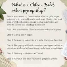 Welcome to Rachel's Pinterest Pop-Up Boutique!! The Pop-Up Boutique will be open from asjgalskgjlsakgj  angelicacasimiro.chloeandisabel.com