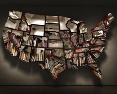 A beautifully designed and patriotic bookcase from Ron Arad. Specs: 'Oh, the farmer and the cowman should be friends', Ron Arad 2009 Corten and Creative Bookshelves, Modern Bookshelf, Bookshelf Design, Bookshelf Ideas, Tree Bookshelf, Bookshelf Organization, Bookshelf Inspiration, Bookcase Plans, Etagere Design