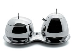 FRUIT BASKET SUGAR AND CREAM SET by Alessi