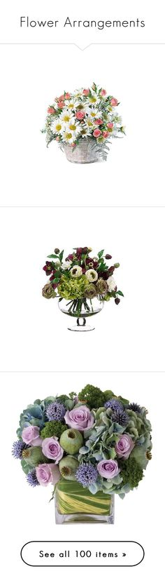 """""""Flower Arrangements"""" by chasity-whittington ❤ liked on Polyvore featuring home, home decor, floral decor, flowers, flores, backgrounds, fiori, plants, flower stem and rose home decor"""