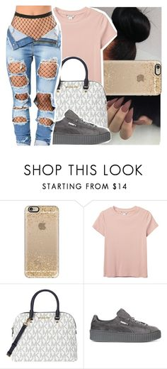 """Spring Break Contest"" by litlike-dest ❤ liked on Polyvore featuring Casetify, Monki, Michael Kors and Puma"