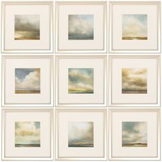 Darby Home Co® 9-Piece Atmosphere Framed Painting Print Set