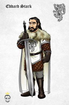 Eddard Ned Stark by ~Felipenn on deviantART #got #agot #asoiaf