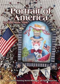 Portrait of America by Cindy Mann Vitale in the June 2016 issue of Painting World Magazine   Subscribe at https://paintingworldmag.com/