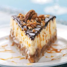 Layered Turtle Cheesecake Recipe | THE BEST TURTLE CHEESECAKE WITH CARAMEL YOU'LL EVER HAVE (: A GOTTA TRY THIS ONE !!