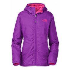 TNF Girls Reversible Perseus  Jacket (Pixie Purple/Passion Pink)