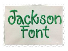 Jackson Machine Embroidery Font Monogram by RivermillEmbroidery