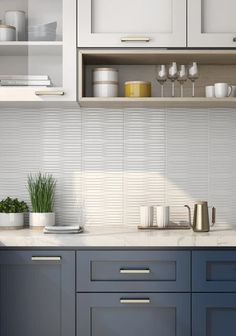 Two Tone Kitchen Cabinets, Kitchen Cabinet Colors, Painting Kitchen Cabinets, Backsplash Kitchen White Cabinets, Backsplash Kitchen Subway Tile, Different Color Kitchen Cabinets, White Cabinet Kitchen, Modern Cabinets, Kitchen Cabinets Color Combination