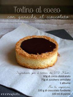 http://www.cucinaghiotta.it/tortini-al-cocco-e-cioccolato/ Tortino al cocco con granache al cioccolato
