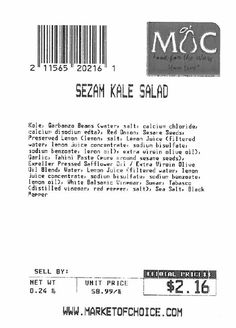 Market of Choice Issues Allergy Alert on Undeclared Egg in Sezam Kale Salad